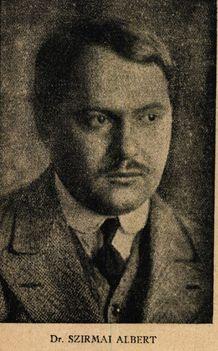 Szirmai Albert  operettszerző Színházi Élet 1918