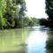 Újszigeti Duna-ág a hullámtéri vízpótlórendszerben, Lipót 2016. július 15.-én 2