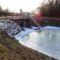 Befagyott a Gombócos-Bár-Duna csatorna a Koltai házi zsilipnél, 2017. január 27.-én 1