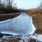 Befagyott a Gombócos-Bár-Duna csatorna a Koltai házi zsilipnél, 2017. január 27.-én 2