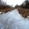 Befagyott a Nováki csatorna ami a Halászi (Arak) és Darnózseli községek közigazgatási határán is végig húzódik, 2017 január 31 (3)