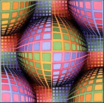 Geometrikus alakzatok Victor Vasarely képein 12