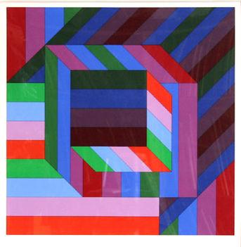 Geometrikus alakzatok Victor Vasarely képein 14