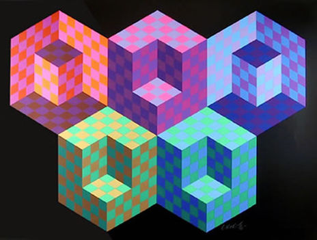 Geometrikus alakzatok Victor Vasarely képein 15