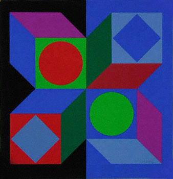 Geometrikus alakzatok Victor Vasarely képein 16