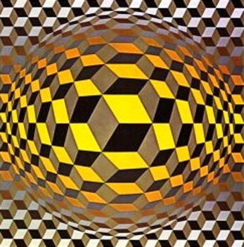 Geometrikus alakzatok Victor Vasarely képein 18