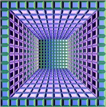 Geometrikus alakzatok Victor Vasarely képein 2