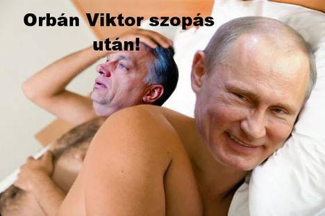 Orbán Viktor szopás után