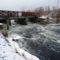A Denkpáli megcsapoló műtárgyon kivezetett víz, Dunasziget 2017 január 31 (2)