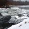 A Denkpáli megcsapoló műtárgyon kivezetett víz, Dunasziget 2017 január 31 (7)