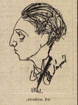 Ábrahám Pál zeneszerző karikatúra (1930)