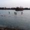 Befagyott a Báger tó a gyerekek nagy örömére, Mosonmagyaróvár 2017. január 23.-án 3