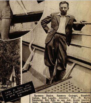 Fries De Károly zeneszerző  Színház Élet (1932)