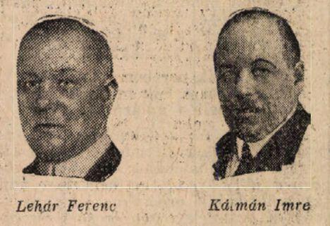 Kálmán Imre és  Lehár Ferenc operettszerzők (1930)