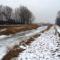 Lajta bal parti csatorna az Összekötő csatorna alatti szakaszon, Hegyeshalom 2017. január 26.-án