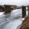 Lajta bal parti csatorna, elbontandó beton pillérek a régi határsávnál lebontott fahíd helyén, Hegyeshalom 2017 január 27 (3)