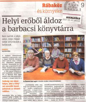újságcikkek rólunk-könyvtárátadás