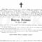 Burza Béláné  gyászjelentése