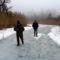Túra a befagyott Öregszigeti belső tó jegén, Kisbodak 2017. február 03.-án 11