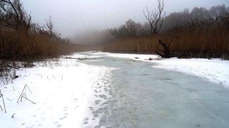 Túra a befagyott Öregszigeti belső tó jegén, Kisbodak 2017. február 03.-án 45