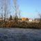 A Mosoni-Duna folyó  a Partos utcánál, az Aranyossziget felől nézve, 2017. február 14.-én 1