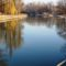A Mosoni-Duna folyó az Englernél az Aranyossziget felől nézve, 2017. február 14.-én 4