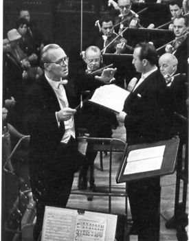 Lukács Miklós a Zeneakadémián Ilosfalvy Róberttel (1962)