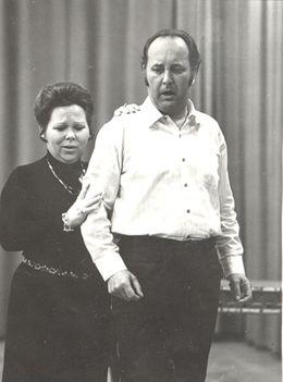 Renata Scotto és Ilosfalvy Róbert a Lammermoori Lucia próbáján (1971)