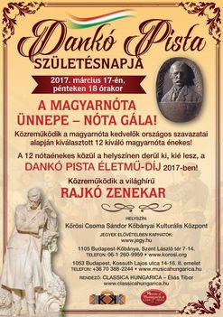 2017.márc . 17. Magyarnóta Ünnepe , Díj átadással.