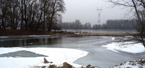 A Pulai fenékküszöb és a hallépcső környezete, Győrzámoly 2017. január 31.-én