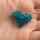 Kék Swarovski szív medál