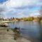 Mosoni-Duna folyó Mosonban a Bicó vendégló és a Csikusz melletti szakaszon, Mosonmagyaróvár 2017. március 07.-én 1