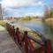 Mosoni-Duna folyó Mosonban a Bicó vendégló és a Csikusz melletti szakaszon, Mosonmagyaróvár 2017. március 07.-én 2
