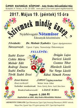Májusi Nyárhívogató Nótaműsor  Újpesten
