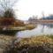 Mosoni-Duna folyó a Csiszló-ér kiágazásánál, Mecsér 2017. február 10 .-én 1