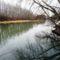 Mosoni-Duna folyó Mecsérnél, 2017. február 10 .-én 2