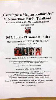 Összefogás a Magyar Kultúráért V. Nemzetközi Baráti Találkozó