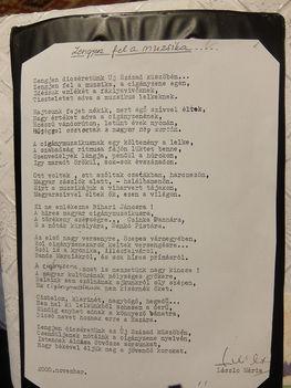 A mindenkori cigánymuzsikusaink és a cigányzene  dícséretére íródott  versem.