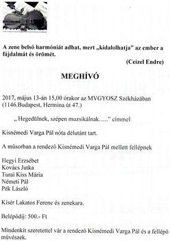 Magyar nóta műsor az MVGYOSZ  Székházában
