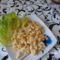 Tojásos nokedli salátáva