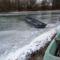 Befagyott a Kisvesszősi- ág a Szigetközi hullámtéri vízpótlórendszerben, Kisbodak 2017. január 14.-én  4