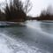 Befagyott a Kisvesszősi- ág a Szigetközi hullámtéri vízpótlórendszerben, Kisbodak 2017. január 14.-én  5
