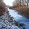 Befagyott a Nováki csatorna a Novákpusztai közúti hídnál, Kimle 2017. január 11.-én 3