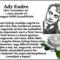 Emlékezzűnk...98 éve,1919. 01. 27.meghalt Ady Endre