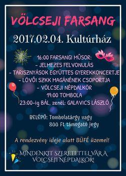 Völcseji Farsang 2017 - Meghívó