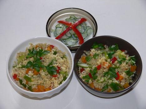Bulgur köret és uborka saláta