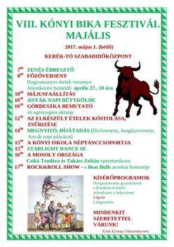 Kónyi Bika Fesztivál, Majális 2017.
