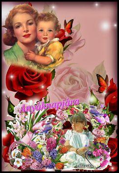 Anyák napján Isten éltesse minden édesanyát nagymamát dédiket.