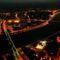 Légifotó sétarepülés folyamán: Budapest éjszaka
