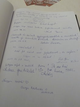 Vendégkönyvbe írt hozzászólások....